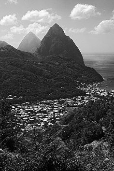 st lucia soufriere pitons