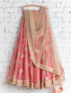 Shop dark misty rose with gleeful resham designer lehenga choli online.This set is features a yellow blouse in silk embroidery and resham work.It has matching dark misty rose lehenga in silk with beautiful embroidery all over and misty rose dupatta in net Indian Bridal Lehenga, Silk Lehenga, Yellow Lehenga, Heavy Lehenga, Bridal Dupatta, Lehenga Wedding, Gangtok, Indian Attire, Indian Ethnic Wear