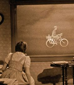 Wizard of Oz. The part where Miss Gulch turns into the witch was so frightening!