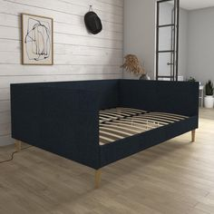 Daybed Room, Daybed With Trundle, Ikea Daybed, Mid Century Modern Daybed, Full Size Daybed, Black Daybed, Guest Bedroom Decor, Guest Room, Bedroom Ideas