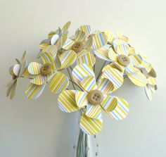 Paper Flower Bouquet  12 Stem Summer Stripe by FlightyFleurs, $24.00