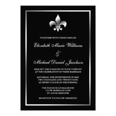 See MoreSilver and Black Fleur de Lis Wedding Custom Announcementonline after you search a lot for where to buy