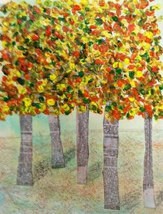 Check out artwork on Artsonia, the largest student art museum on the… Autumn Crafts, Autumn Art, Autumn Trees, Kindergarten Art, Preschool Art, Classe D'art, Fall Art Projects, Art Lessons Elementary, Art Classroom