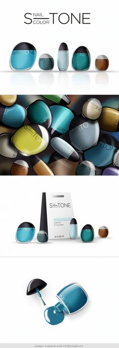 S-TONE Nail Color #packaging concept and design. Packaging of the World