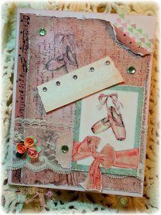 Ballerina, card, quilled flowers, lace, #pinkfreshstudio, #washi, ballet