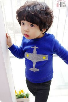 Cool airplane sweater for little C
