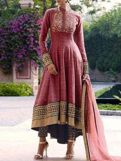 Jambudi creation peach khadi embroidered salwar suit