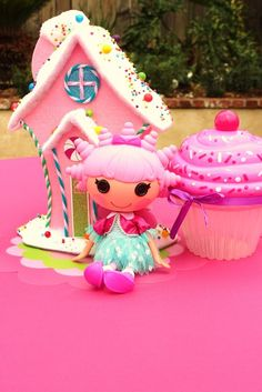 Cute decorations at a Lalaloopsy girl birthday!  See more party ideas at CatchMyParty.com!