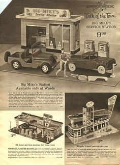 §§§ : Big Mike's Service Station Available only at Ward's for 9.99 : 1950s