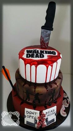 Bloody Walking Dead Cake by Angela Hudson Cakes