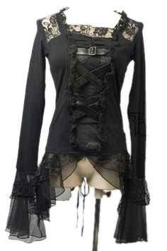 Laced Longsleeve Gothic Top by Punk Rave$73