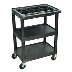 PORTABLE STORAGE FOR PAINT/BRUSHES This Luxor 3-shelf cart features polyethelene shelves and a middle tub along with a shelf with flat top and bottom shelves. The shelves will not scratch, dent rust or stain.http://www.overstock.com/Home-Garden/Luxor-Small-3-shelf-Utility-Black-Cart-with-Top-Tub-Shelf-with-Removable-Tray-Dividers/7637954/product.html?CID=214117 $99.99
