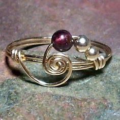 wire beaded ring by kildaremom