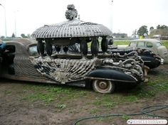 Carved funeral car