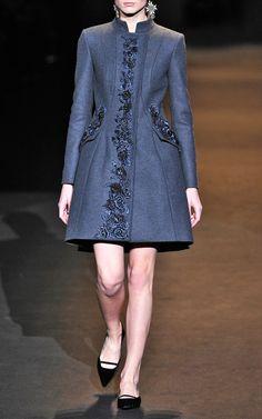 Alberta Ferretti Embroidered Virgin Wool Coat