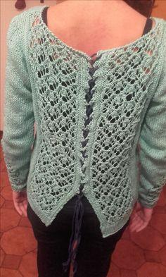 dietro del maglione in cotone....