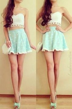 Cute outfit with the pastel and white colors very adorable