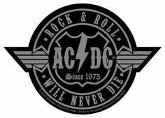 AC/DC Rock N Roll Will Never Die Out Cut-Out Aufnäher | 2835