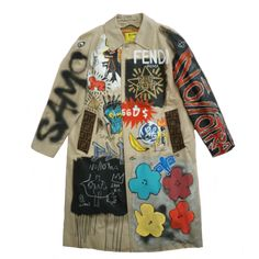 Made by No//Otra hand painted by The Producer BDB tribute to three Artistic Geniuses Basquiat//Haring//Warhol Fendi fabric size L Custom Clothes, Diy Clothes, Diy Fashion, Fashion Outfits, Fashion Design, Mode Grunge, Painted Clothes, Mode Inspiration, Look Cool