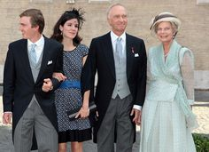Belgian Royal Wedding: The Guests...Posted on July 6, 2014 by HatQueen....Yesterday's wedding of Prince Amedeo, Archduke of Austria-Este and Elisabetta Rosboch von Wolkenstein.....Archduchess Adelaide and Archduchess Marie Astrid, July 5, 2014 | Royal Hats