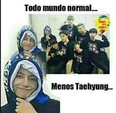 To falando que o Tae é um meme ambulante!