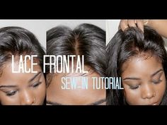 ♡ How to Sew-in Your → Lace Frontal *NO HAIR OUT* - YouTube