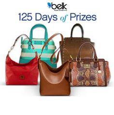 Complement your summer style with a new designer handbag! Enter now! #belk125