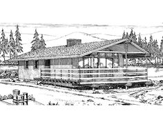 Country House Plan with 880 Square Feet and 2 Bedrooms(s) from Dream Home Source | House Plan Code DHSW27836