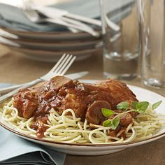 A little greasy. Might try once more w/ boneless skinless thighs. Slow-Cooker Chicken Cacciatore