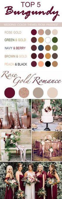 Image result for green and rose gold burgundy wedding