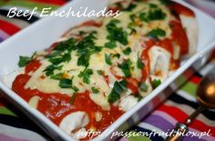 Beef Enchiladas. Enchiladas z wołowiną