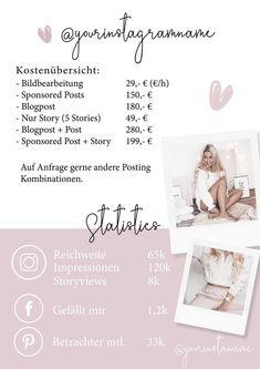 Media Kit Template Instagram Press Kit Instagram Template | Etsy Media Kit Template, Instagram Names, Press Kit, Describe Yourself, Templates, Banks, Layout, Business, Free