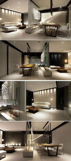 Room Divider Idea – This glass wall supports a TV, an art… -- Article ideas / research - modern room divider ideas for Best of Modern Design - So many good things! Modern House Design, Modern Interior Design, Interior Architecture, Interior And Exterior, Minimalist Interior, Interior Design Living Room, Living Room Designs, Interior Livingroom, House Ideas