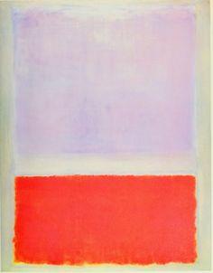 "dailyrothko:  ""Mark Rothko, Untitled (Lilac and orange over ivory), 1961  """