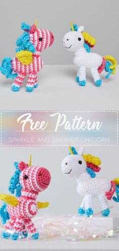 Mesmerizing Crochet an Amigurumi Rabbit Ideas. Lovely Crochet an Amigurumi Rabbit Ideas. Crochet Unicorn Pattern Free, Crochet Animal Patterns, Stuffed Animal Patterns, Amigurumi Patterns, Crochet Animals, Free Pattern, Crochet Gifts, Cute Crochet, Crochet Dolls