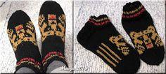 -maijun- tekeleitä: Karhusukat - vielä kerran :) Knitted Gloves, Knitting Socks, Slouchy Hat, Annie Sloan Chalk Paint, Leg Warmers, Mittens, Ravelry, Knit Crochet, Knitting Patterns