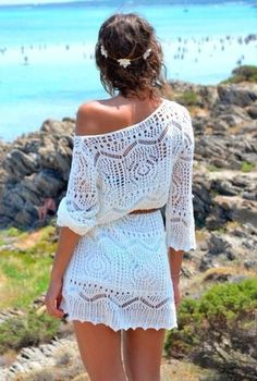 ASOS Crochet Lace Dress In Slub Knit on Chiq  $83.34 http://www.chiq.com/asos-crochet-lace-dress-slub-knit