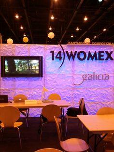 Stand de Galicia en el WOMEX'13, anunciando la próxima edición que tendrá lugar en Santiago.