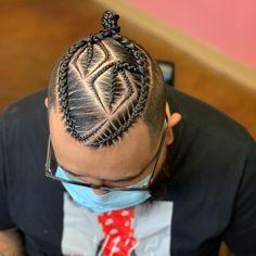 2 Braids Men, Braids With Fade, Braids For Boys, Dreadlock Hairstyles For Men, Mens Braids Hairstyles, Black Men Hairstyles, Braid Styles For Men, Braid Designs For Men, Head Braid