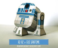 Star Wars` R2-D2 Paper Toy - by Gus Santome -         Gus Santome presents his new model of Star Wars paper toy series: the droid R2-D2 , in a nice Mini Paper Toy style.