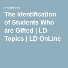 Gifted Ld Misdiagnosed And Misunderstood >> 33 Best Nature And Needs Of Gifted Students Images Gifted Students