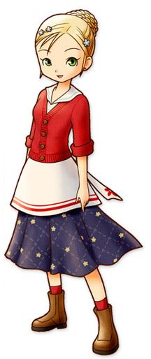 View an image titled 'Laney Art' in our Harvest Moon: The Tale of Two Towns art gallery featuring official character designs, concept art, and promo pictures. Female Character Design, Character Modeling, Video Game Characters, Female Characters, Harvest Moon Game, Rune Factory, Moon Photography, Landscape Photography, Moe Anime