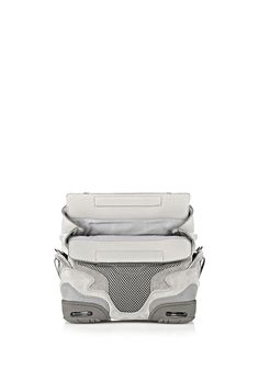 [ALEXANDER WANG] SMALL SNEAKER SLING IN LIGHT CONCRETE WITH MESH AND RHODIUM