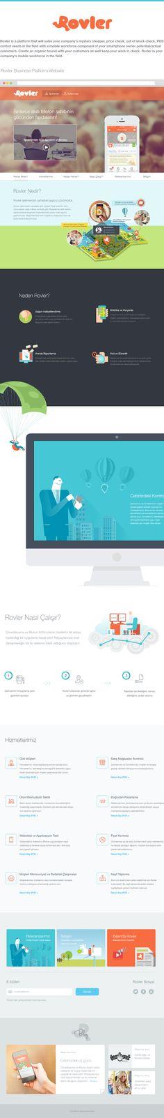 Rovler Website by Murat Gürsoy, via Behance
