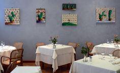 """Allestimento/set up opere di Elena Mirandola al ristorante """"Gufo bianco"""" di Torino by evvivanoé"""