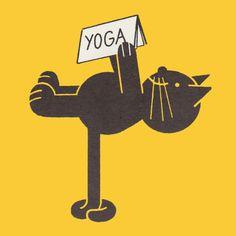 Cat card/ yoga/ birthday/ hobby/ any by MillionMilesCards on Etsy