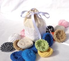 Cotton Face Scrubbies & Bag by MamiMadeIt on Etsy, $27.00