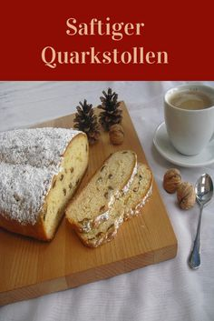 Saftiger Quarkstollen. Bread, Food, Almonds, Play Dough, Food Portions, Cooking, Food Food, Christmas, Brot