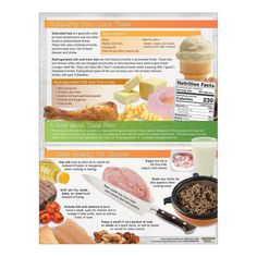 """8 ½"""" x 11"""", 50 sheets, 2-sided Making wise choices when it comes to the type and amount of fat you choose to eat is important for good health. Discover the differences between saturated and unsaturated fats with the Fats: Make Heart-Healthy Choices Handouts. The handout highlights healthy fat choices to enjoy frequently including monounsaturated and polyunsaturated fats and omega-3 fatty aides and unhealthy fats such as saturated and hydrogenated fats to limit. The handout also explains the role Healthy Fats, Healthy Choices, Healthy Snacks, Nutrition Poster, Milk And Cheese, Tropical, Nutrition Education, Saturated Fat, Pastries"""