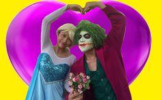 Frozen Elsa Love Joker Spiderman vs Pink Spidergirl Maleficent Fun Super...